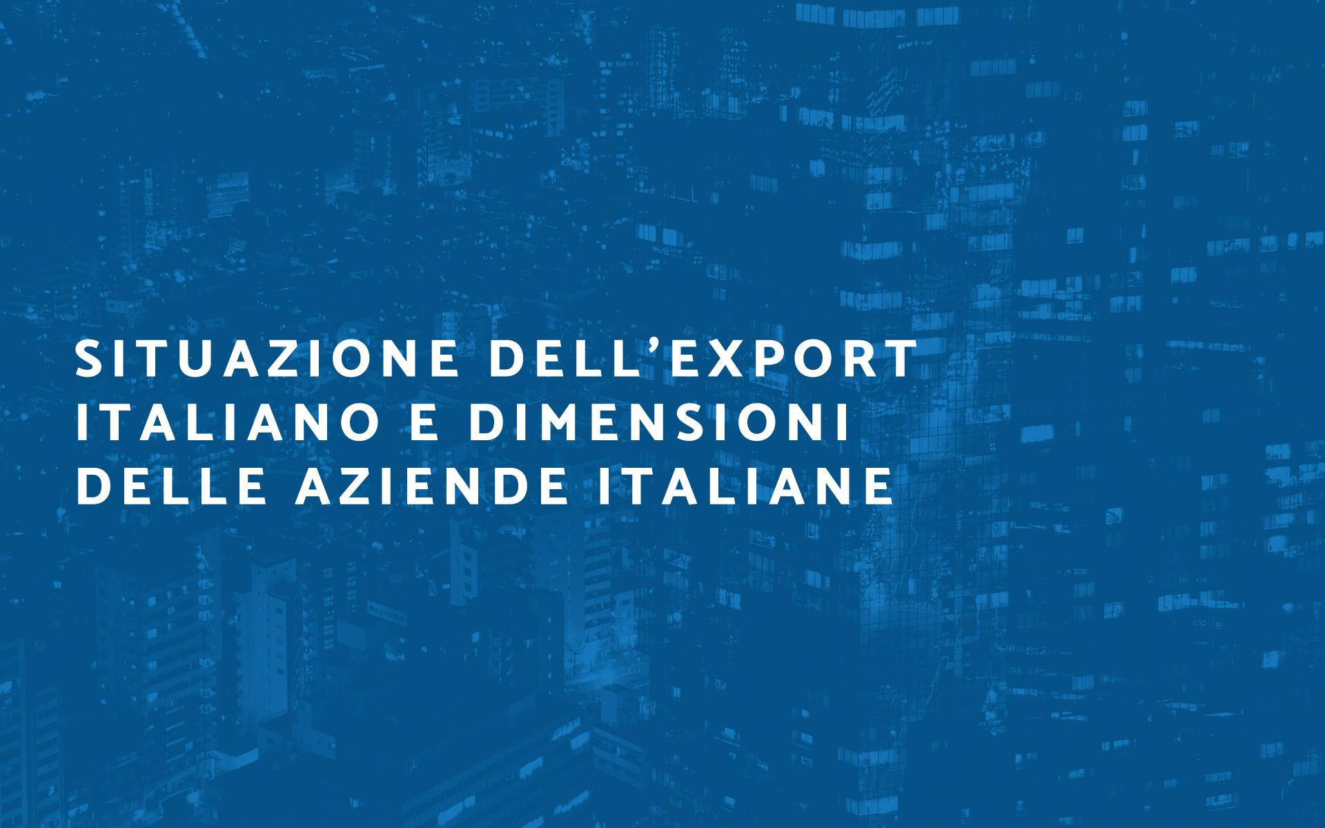 Situazione export italia