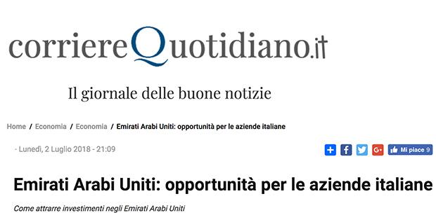 Emirati Arabi Uniti Opportunita Per Le Aziende Italiane Luglio 2018